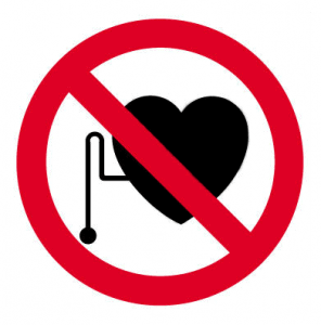 Výstražný symbol - kardiostimulátor
