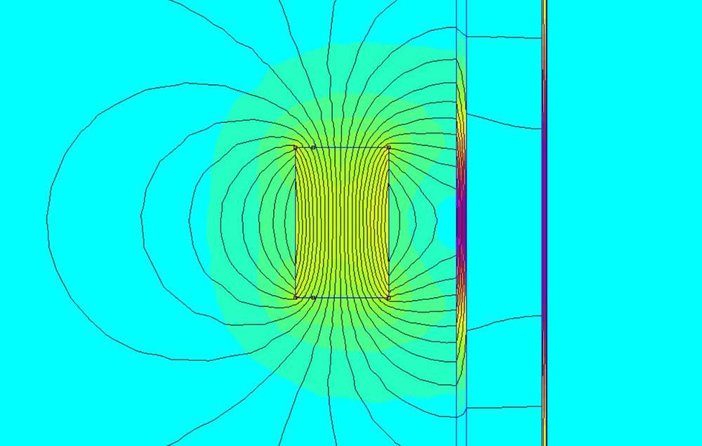Oceľ odtieni silné magnetické pole. Mumetal odkloní posledné siločiary.