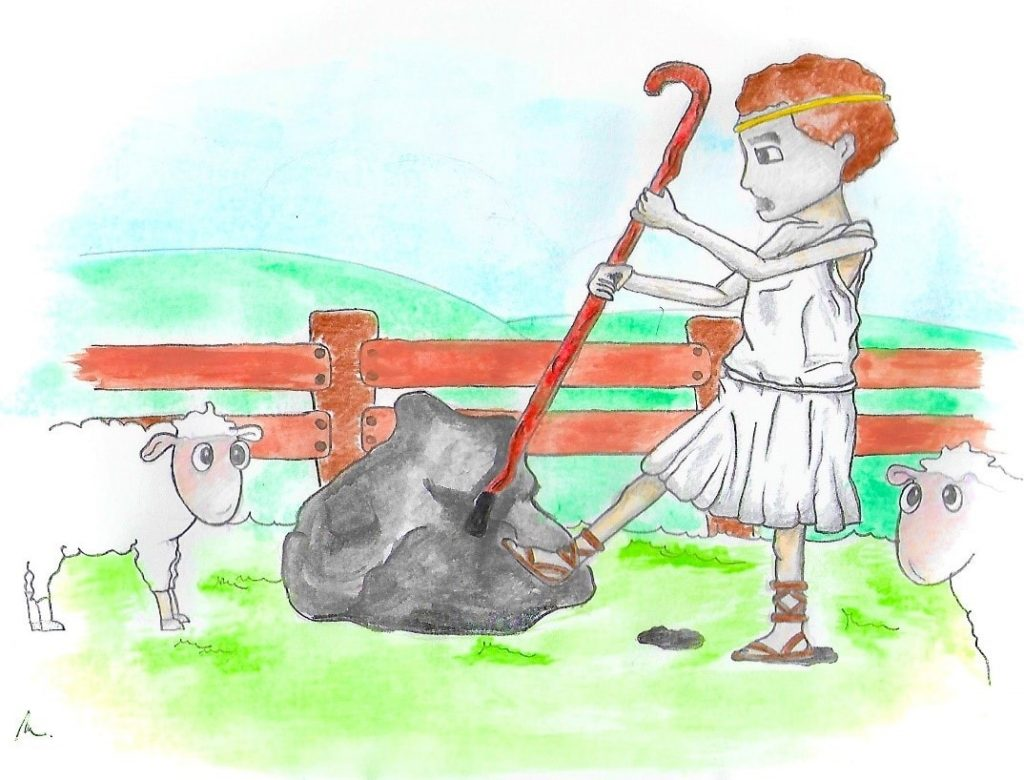 Kresba: pastier Magnes objavil prvý magnet