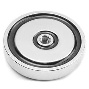 Magnetický úchyt so závitom cez celý magnet