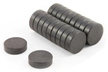 Feritové magnety valce