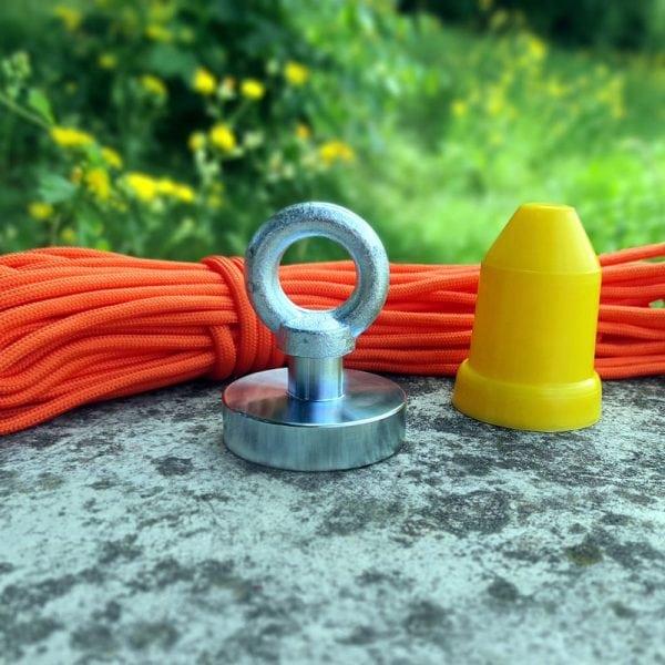 Magnet   fishing set JUNIOR (magnet 94 kg + ochranný kužeľ + lano 15 metrov)