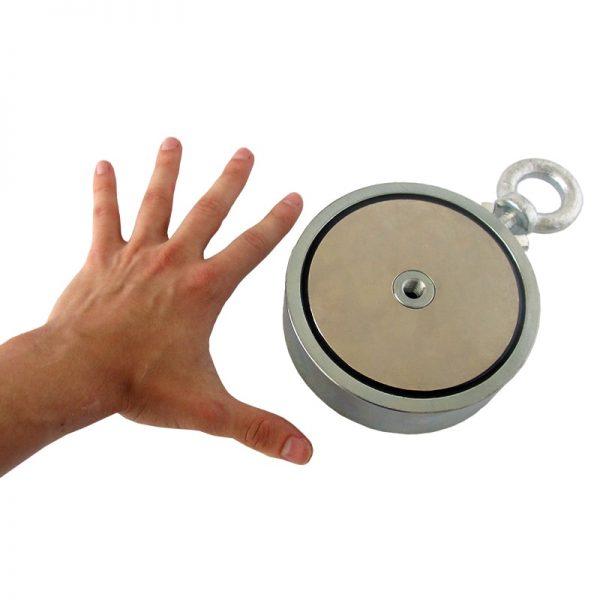 Magnet   s okom obojstranný - sila 2x1100 kg