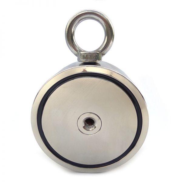 Magnet s okom obojstranný - sila 2x500 kg