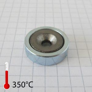 Magnet v   puzdre s dierou pre skrutku 20x6 mm (SmCo)