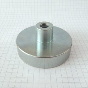Magnet v puzdre s vysunutým vnútorným závitom 60x15 mm