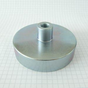 Magnet   v puzdre s vysunutým vnútorným závitom 75x18 mm
