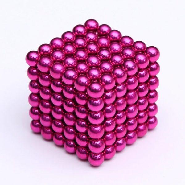 Magnetické   guličky NeoCube ružová (+6 náhradných guličiek)