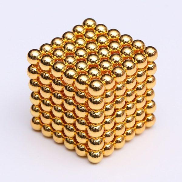 Magnetické   guličky NeoCube zlatá (+6 náhradných guličiek)