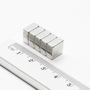 Neodýmový   magnet kváder 10x10x5 mm - N38