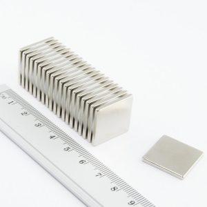 Neodýmový   magnet kváder 20x20x2 mm - N38