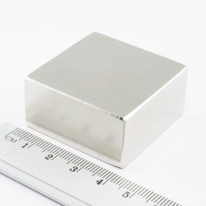 Neodýmový magnet kváder 40x40x20 mm - N38