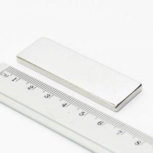Neodýmový   magnet kváder 60x20x4 mm - N38
