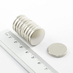 Neodýmový magnet valec 20x2 mm - N38