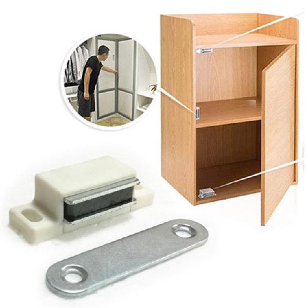 Magnet   na dvierka na nábytok biely